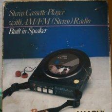 Radios antiguas: ANTIGUO Y RARO STEREO CASSETE PLAYER, AKASHI, JAPON. CON CAJA ORIGINAL. Lote 295378163