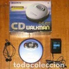 Radios antiguas: SONY CD WALKMAN D-EJ611 PORTABLE CD PLAYER -DISCMAN SONY D-EJ611 REPRODUCTOR CD PEPETO ELECTRONICA. Lote 295969613