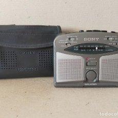 Radios antiguas: SONY MODELO WM-GX322 CON FUNDA: RADIO AM/FM CASSETTE REPRODUCTOR / GRABADOR - EN FUNCIONAMIENTO.. Lote 297081708