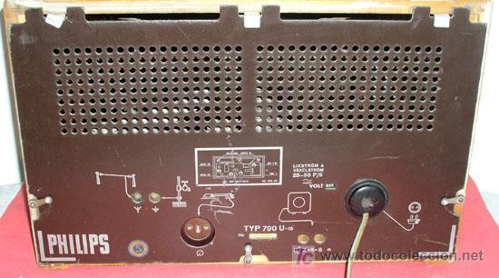 Radios de válvulas: RADIO PHILIPS 790 U 19 - Foto 5 - 7367780