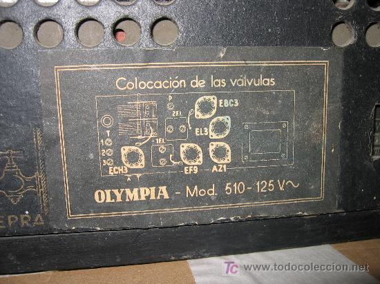 Radios de válvulas: Preciosa y antigua radio OLYMPIA - Foto 4 - 27430774