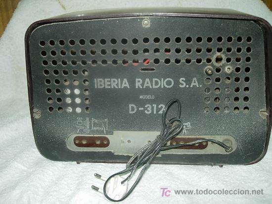 Radios de válvulas: Radio IBERIA Mod. D-132 NO FUNCIONA - Foto 6 - 27095020