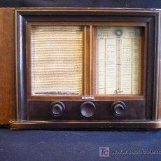 Radios de válvulas: RADIO MARCONI. 53X33X24 MADERA. .220.V. FUNCIONA OM.OC OJO MAAGICO. Lote 27486991