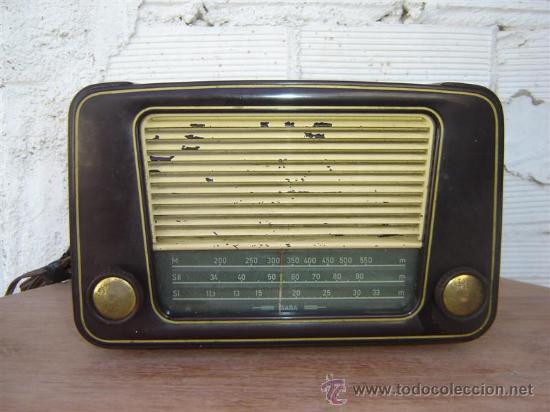 RADIO DE VALVULA SABA (Radios, Gramófonos, Grabadoras y Otros - Radios de Válvulas)