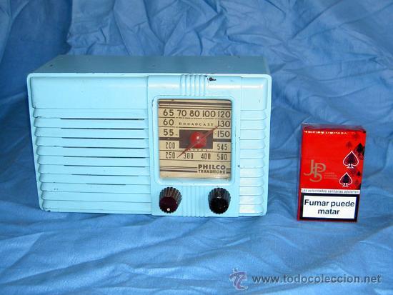 PEQUEÑA RADIO AMERICANA PHILCO (Radios, Gramófonos, Grabadoras y Otros - Radios de Válvulas)