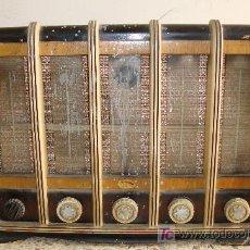 Radios de válvulas: INTERESANTE Y RARA RADIO ESTRELLA AZUL EN MADERA UNICA EN TODOCOLECCION. Lote 26439317