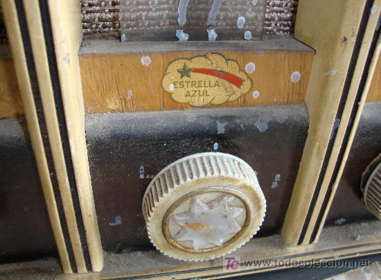 Radios de válvulas: INTERESANTE Y RARA RADIO ESTRELLA AZUL EN MADERA UNICA EN TODOCOLECCION - Foto 5 - 26439317