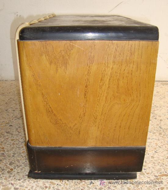 Radios de válvulas: INTERESANTE Y RARA RADIO ESTRELLA AZUL EN MADERA UNICA EN TODOCOLECCION - Foto 12 - 26439317