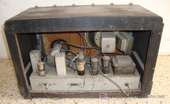 Radios de válvulas: INTERESANTE Y RARA RADIO ESTRELLA AZUL EN MADERA UNICA EN TODOCOLECCION - Foto 14 - 26439317