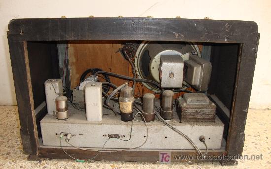 Radios de válvulas: INTERESANTE Y RARA RADIO ESTRELLA AZUL EN MADERA UNICA EN TODOCOLECCION - Foto 15 - 26439317