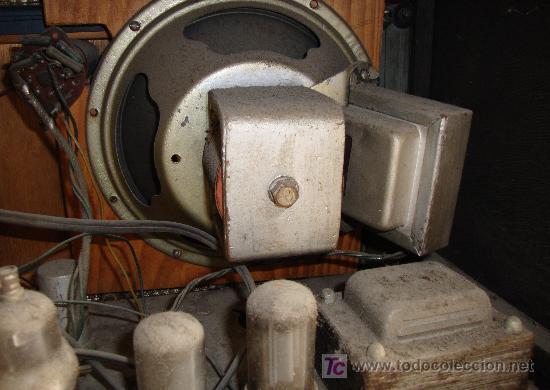 Radios de válvulas: INTERESANTE Y RARA RADIO ESTRELLA AZUL EN MADERA UNICA EN TODOCOLECCION - Foto 17 - 26439317