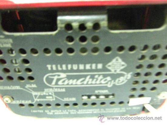 Radios de válvulas: RADIO TELEFUNKEN-MOD.PANCHITO - Foto 3 - 26082568