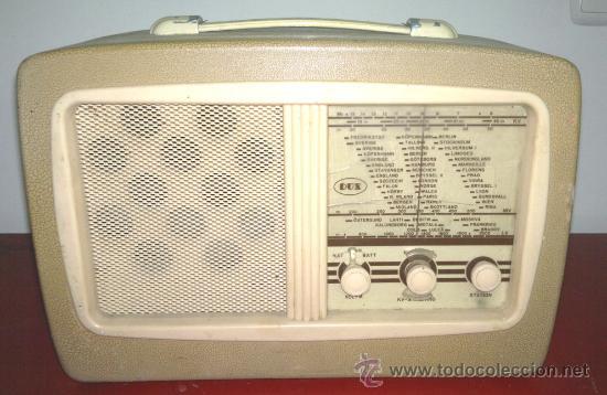 RADIO DUX (FUNCIONA) (Radios, Gramófonos, Grabadoras y Otros - Radios de Válvulas)