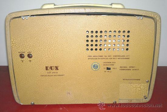 Radios de válvulas: RADIO DUX (FUNCIONA) - Foto 4 - 30360823