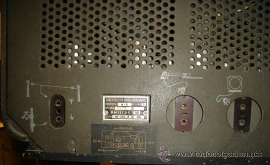 Radios de válvulas: RADIO PHILIPS BE - 382 - A. CAJA DE MADERA. FUNCIONA. FALTA ANTENA - Foto 5 - 31251200