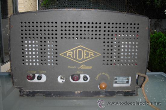 Radios de válvulas: RIDER RADIO - RADIO ESPAÑOLA - Foto 3 - 33656517
