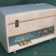 Radios de válvulas: RADIO ANTIGUA INVICTA NO DORADO, ACABADA EN ORO REAL, LO MAS DE LA EPOCA. Lote 33810900