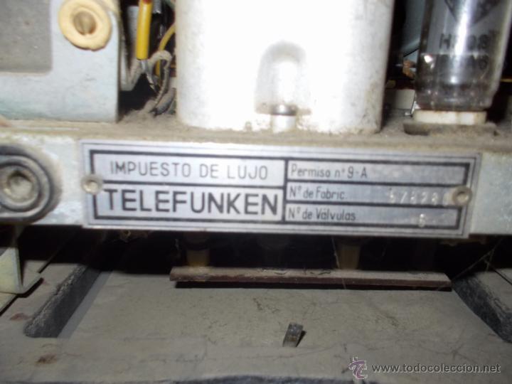Radios de válvulas: Radio telefunken serenata - Foto 11 - 39598873