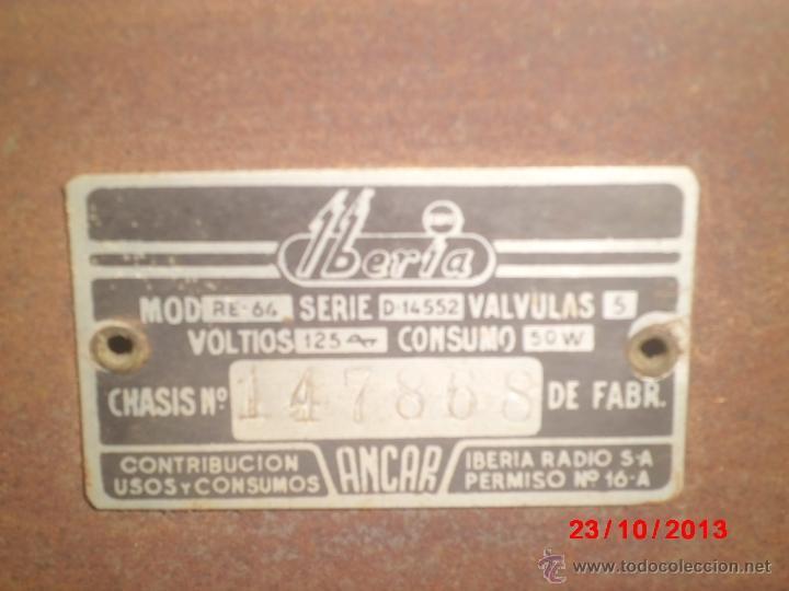 Radios de válvulas: RADIO ANTIGUA CON CAJA DE MADERA - Foto 5 - 39633702