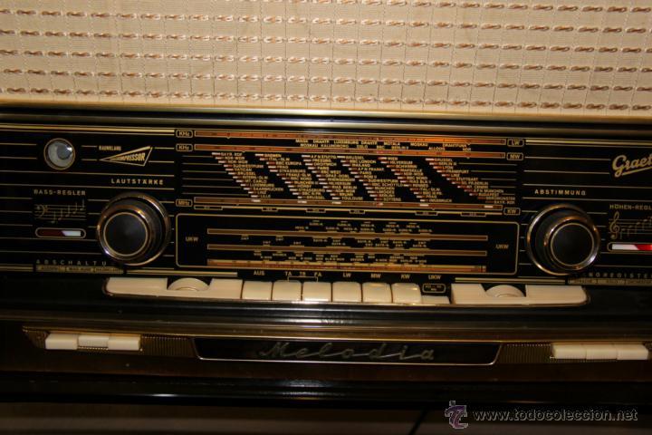 Radios de válvulas: Antiguo Radio de válvulas original, GRAETZ, MELODIA 419, funcionando gran sonido. - Foto 3 - 148099182