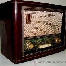 Radios de válvulas: ANTIGUA RADIO DE TECLAS - 41 X 30 X 19 CMS. - EN - NO HE COMPROBADO SU FUNCIONAMIENTO. Lote 38237492