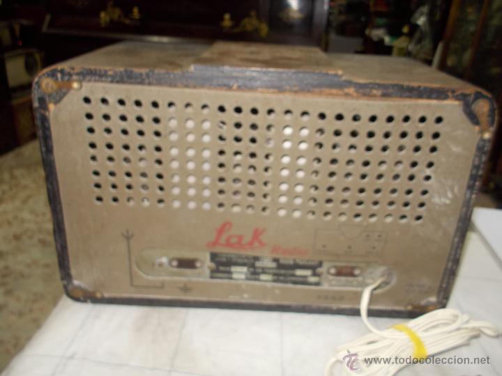 Radios de válvulas: Radio Lak Mod 765 - Foto 9 - 40268079