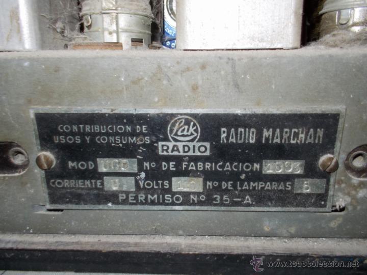 Radios de válvulas: Radio Lak Mod 765 - Foto 11 - 40268079