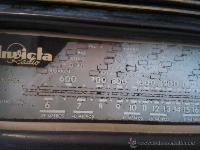 Radios de válvulas: Radio Invicta modelo 5207 - Foto 7 - 39696538