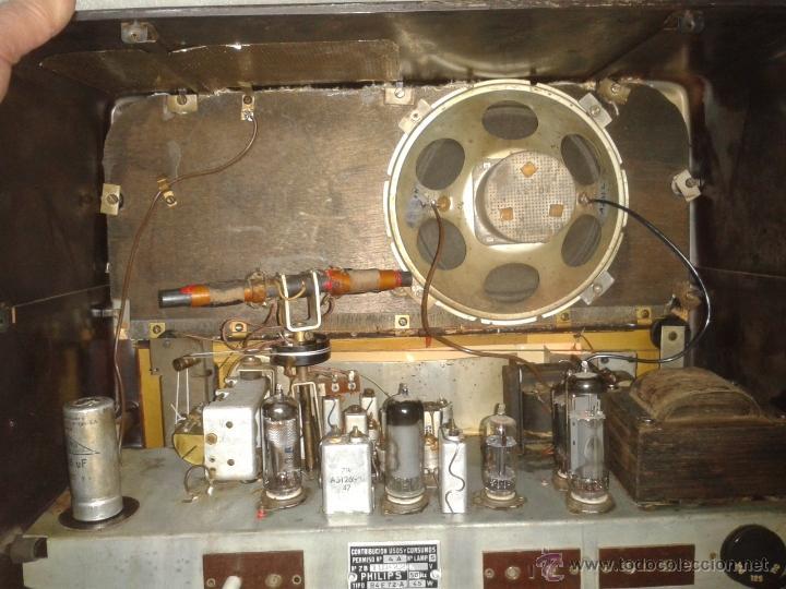 Radios de válvulas: Antigua radio PHILIPS Mod.B4E72 A. FUNCIONANDO - Foto 7 - 41140790
