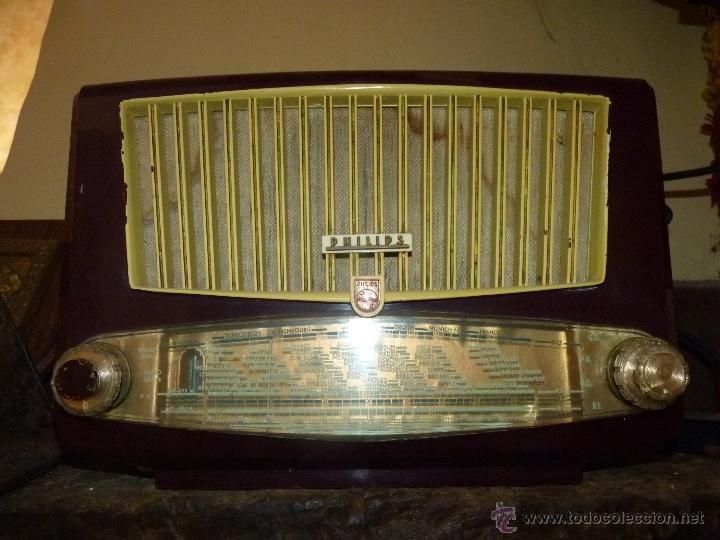 PRECIOSA RADIO ANTIGUA PHILIPS TOTALMENTE ORIGINAL (Radios, Gramófonos, Grabadoras y Otros - Radios de Válvulas)