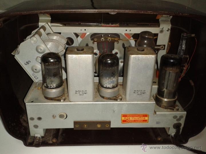 Radios de válvulas: Antigua y coqueta radio SIEMENS - SUPER 513 U. 1951 . FUNCIONANDO a 220 V - Foto 4 - 41049640