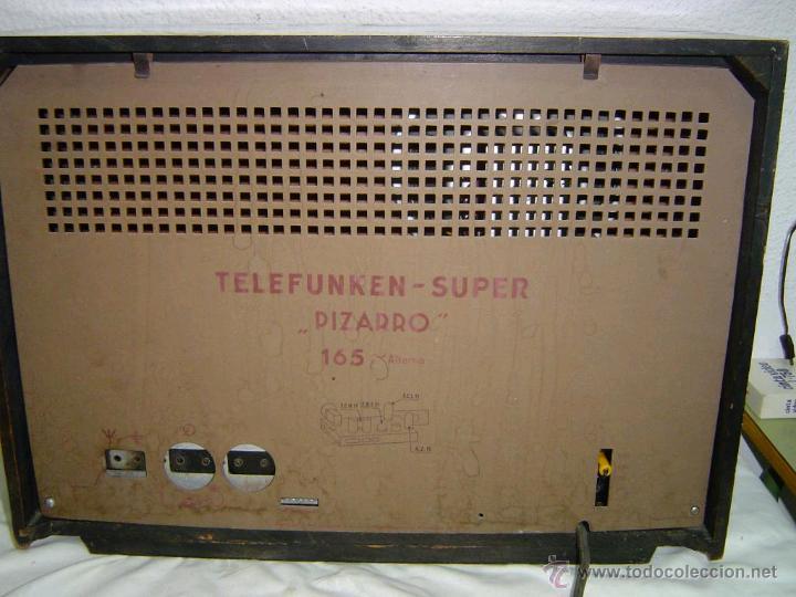 Radios de válvulas: RADIO TELEFUNKEN SUPER PIZARRO 165 - Foto 6 - 42033437