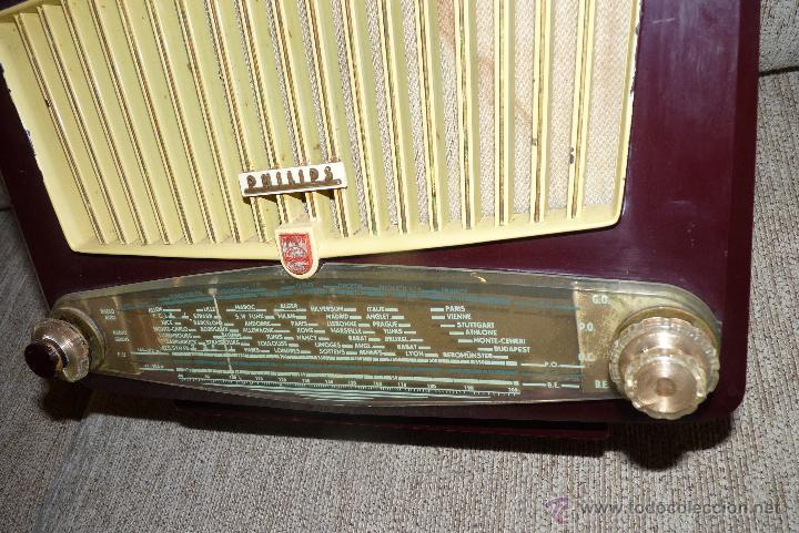 Radios de válvulas: PRECIOSA RADIO ANTIGUA PHILIPS TOTALMENTE ORIGINAL - Foto 4 - 41201847