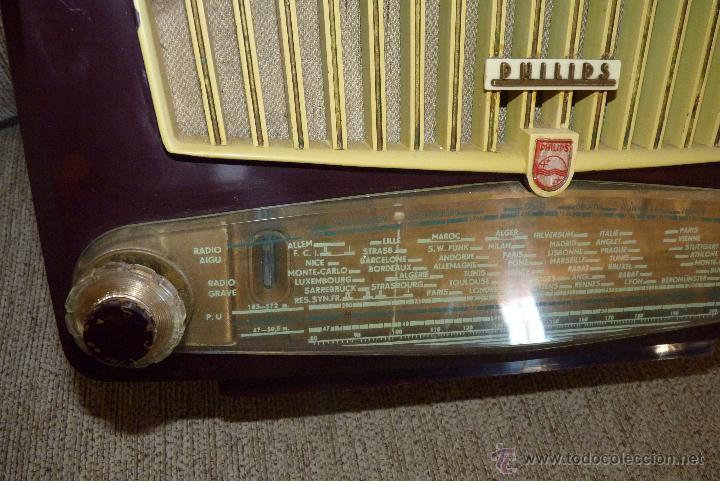 Radios de válvulas: PRECIOSA RADIO ANTIGUA PHILIPS TOTALMENTE ORIGINAL - Foto 5 - 41201847