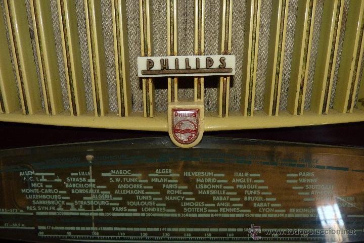 Radios de válvulas: PRECIOSA RADIO ANTIGUA PHILIPS TOTALMENTE ORIGINAL - Foto 6 - 41201847
