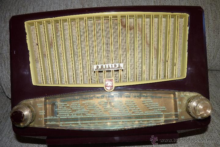 Radios de válvulas: PRECIOSA RADIO ANTIGUA PHILIPS TOTALMENTE ORIGINAL - Foto 7 - 41201847