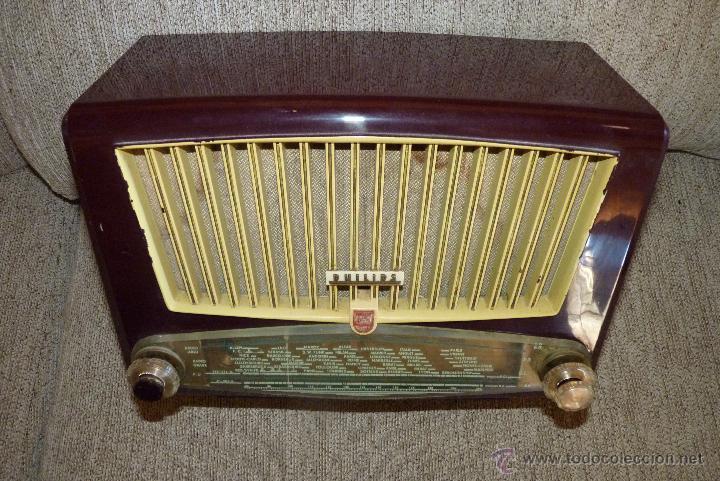 Radios de válvulas: PRECIOSA RADIO ANTIGUA PHILIPS TOTALMENTE ORIGINAL - Foto 8 - 41201847