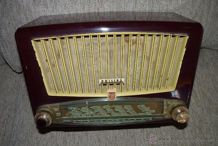 Radios de válvulas: PRECIOSA RADIO ANTIGUA PHILIPS TOTALMENTE ORIGINAL - Foto 9 - 41201847