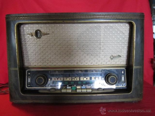 RADIO GUETZ CON CAJA DE MADERA. (Radios, Gramófonos, Grabadoras y Otros - Radios de Válvulas)