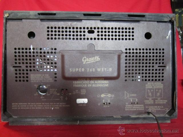 Radios de válvulas: Radio Guetz con caja de madera. - Foto 10 - 25804893
