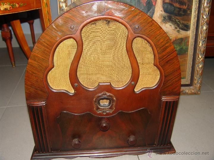 Radios de válvulas: PRECIOSA RADIO DE CAPILLA MARCA CROSLEY(USA).AÑO 1934. - Foto 2 - 42994408
