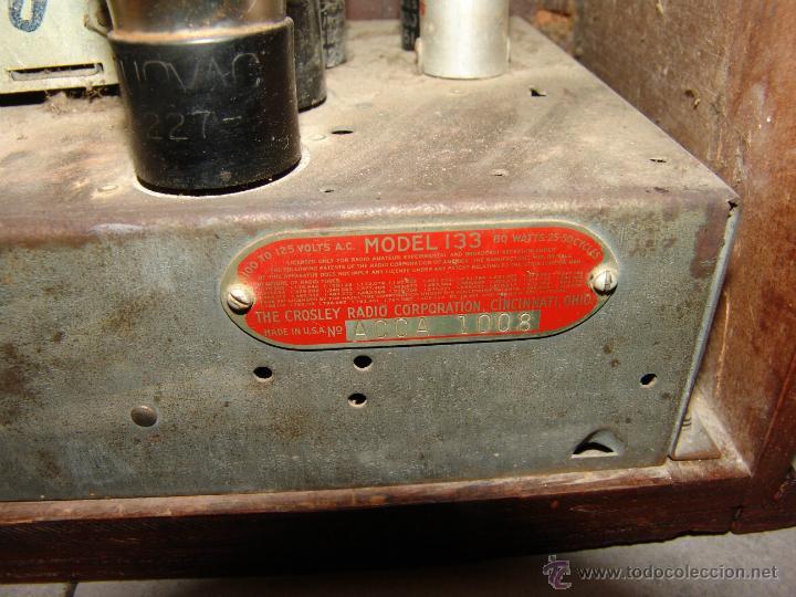 Radios de válvulas: PRECIOSA RADIO DE CAPILLA MARCA CROSLEY(USA).AÑO 1934. - Foto 4 - 42994408
