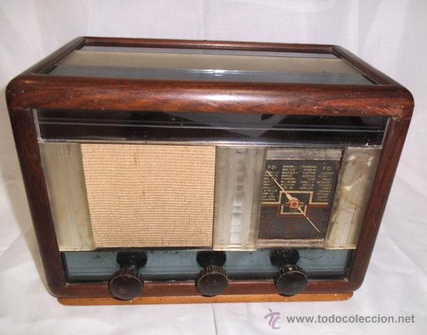 ANTIGUA RADIO DE MADERA Y CRISTALES , MUY RARA (Radios, Gramófonos, Grabadoras y Otros - Radios de Válvulas)