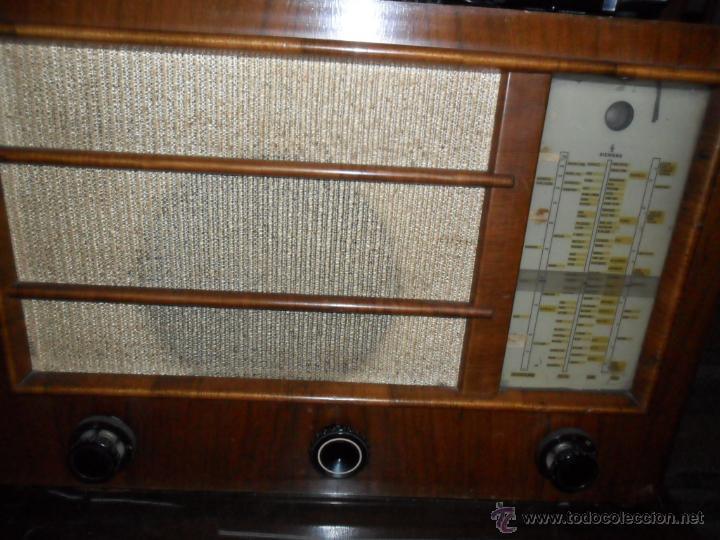 Radios de válvulas: APARATO DE RADIO EN MADERA DE NOGAL - AÑOS 40 DE LA CASA SIEMENS - Foto 9 - 43425323