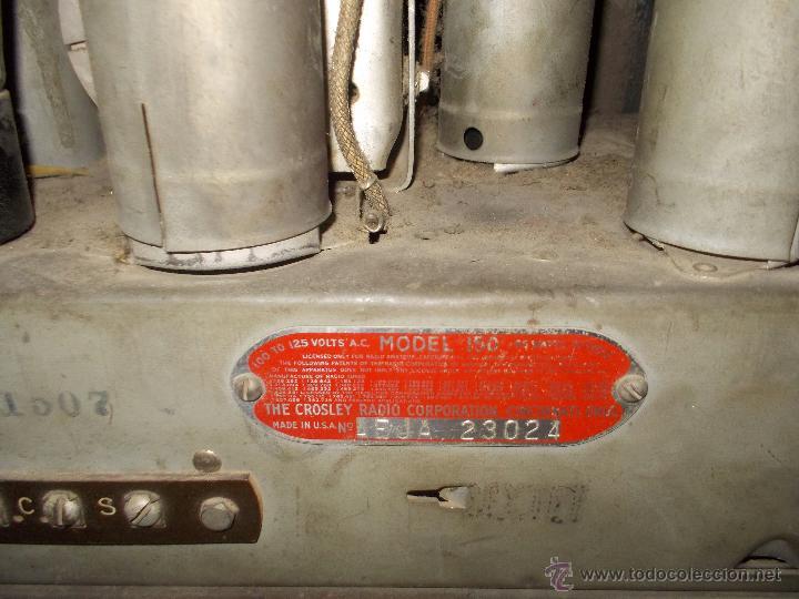 Radios de válvulas: Radio Crosley Modelo 150 - Foto 13 - 43830110