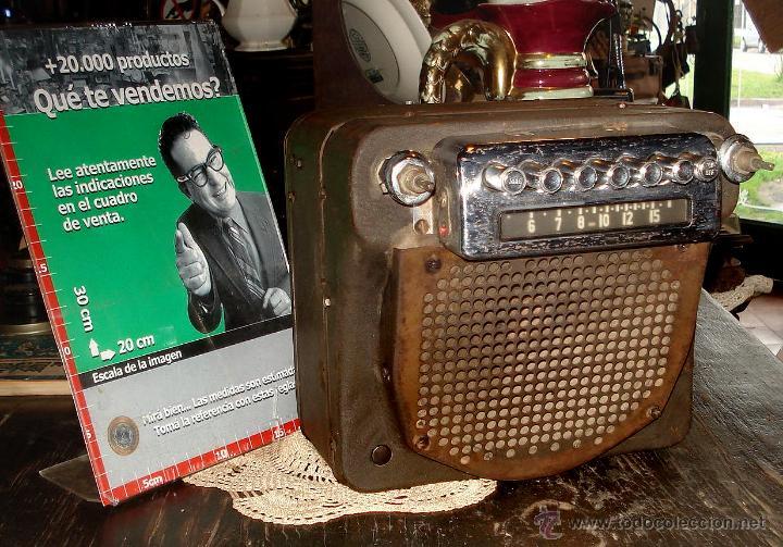 ANTIGUA AUTO RADIO VALVULAS CADILLAC DELCO 1946 47 MODEL 7253207 EXCELENTE ESTADO GENERAL SIN PROBAR (Radios, Gramófonos, Grabadoras y Otros - Radios de Válvulas)