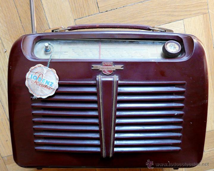 RADIO LORENZ WEEKEND 1953 - DE VALVULAS, PORTABLE (Radios, Gramófonos, Grabadoras y Otros - Radios de Válvulas)