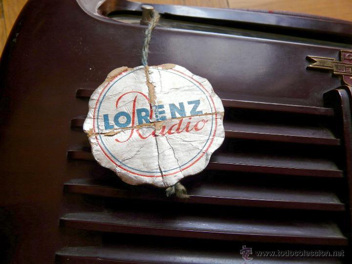 Radios de válvulas: RADIO LORENZ WEEKEND 1953 - DE VALVULAS, PORTABLE - Foto 2 - 45219401