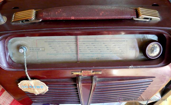 Radios de válvulas: RADIO LORENZ WEEKEND 1953 - DE VALVULAS, PORTABLE - Foto 3 - 45219401
