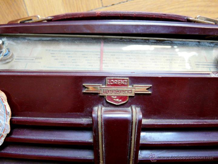 Radios de válvulas: RADIO LORENZ WEEKEND 1953 - DE VALVULAS, PORTABLE - Foto 7 - 45219401